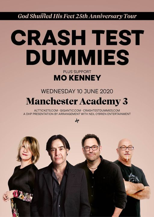 Crash Test Dummies live at Manchester Academy 3, 9 June   Event in Manchester   AllEvents.in