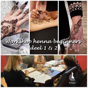 Workshop Henna beginners 12 & 3