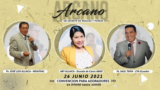 "ARCANO ""Un Secreto de Realeza y Pureza"", 29 May | Event in Riobamba | AllEvents.in"