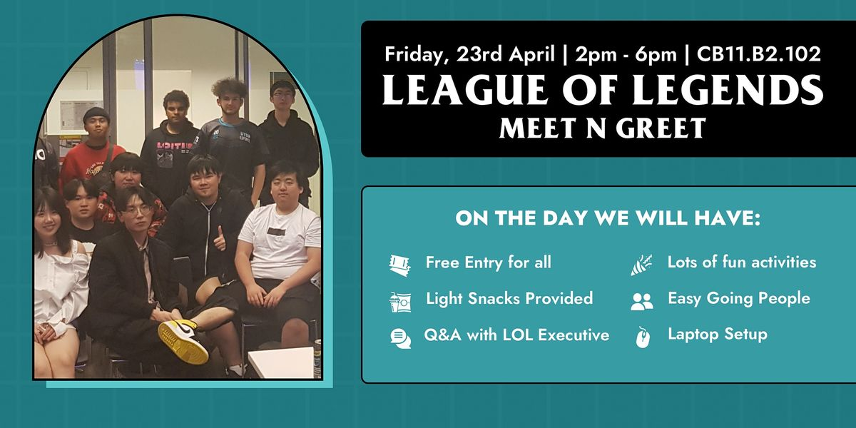 UTS Esports League of Legends Meet N Greet, 23 April | Event in Ultimo | AllEvents.in