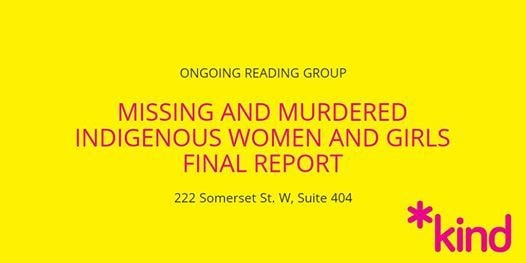 MMIWG Final Report Reading Group (ongoing)