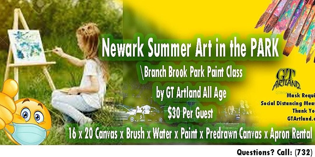 Art In Branch Park Family Summer Paint Class Social Distancing Picnic Music