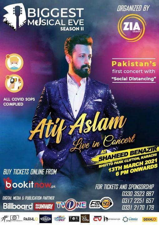 Atif Aslam live in Karachi, 3 June   Event in Karachi   AllEvents.in