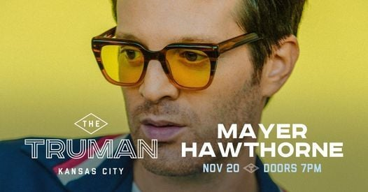 Mayer Hawthorne at The Truman, 20 November | Event in Kansas City | AllEvents.in