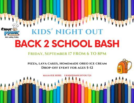Kids' Night Out: Back to School Bash   Event in Cornelius   AllEvents.in