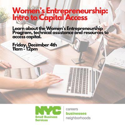 Womens Entrepreneurship Program-Introduction to Capital Access 1242020