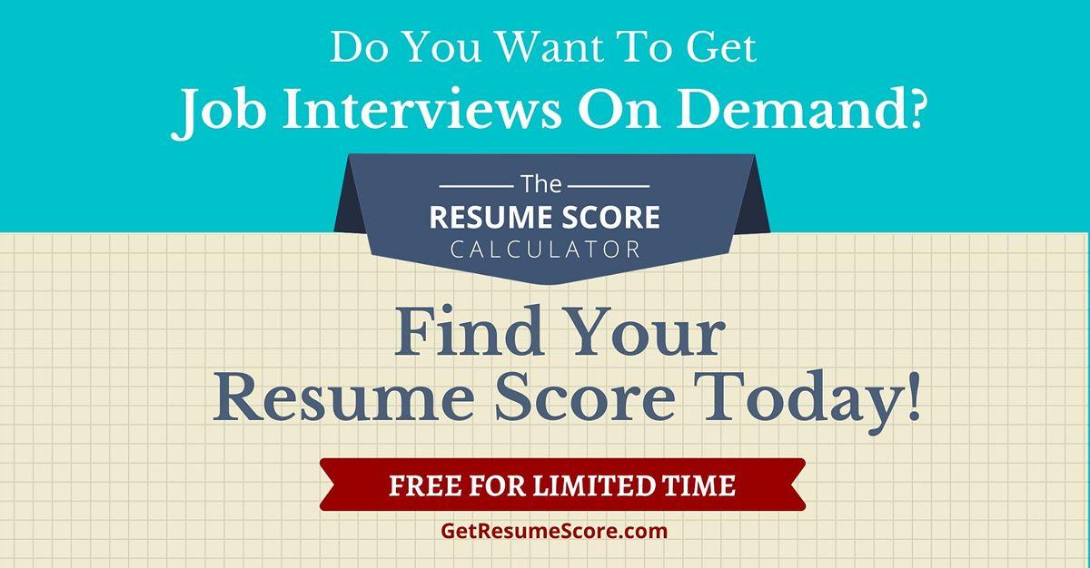 """Resume Score Maximizer"" — Do You Know Your Resume Score? — Vizakhapatnam | Event in Vizakhapatnam"