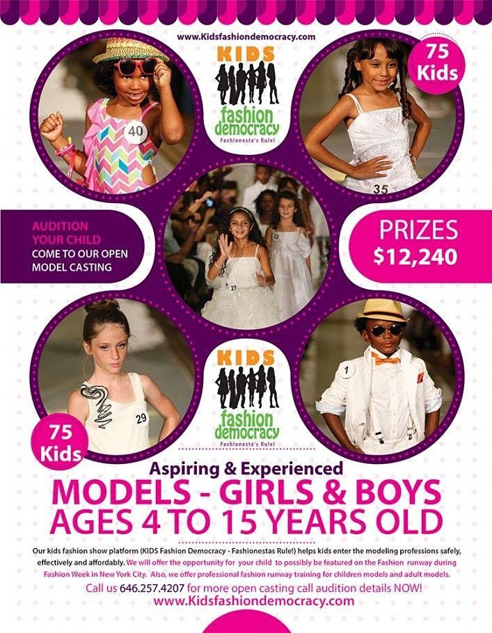 KIDS 9-15 Fashion Show Virtual Audition   Online Event   AllEvents.in