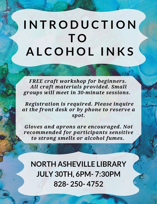 Introduction to Alcohol Inks at North Asheville Branch Library