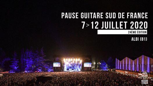 Festival Pause Guitare Sud de France 2020  7 au 12 Juillet