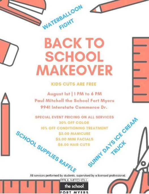 Back to School Makeover at Paul Mitchell The School Fort Myers, Fort