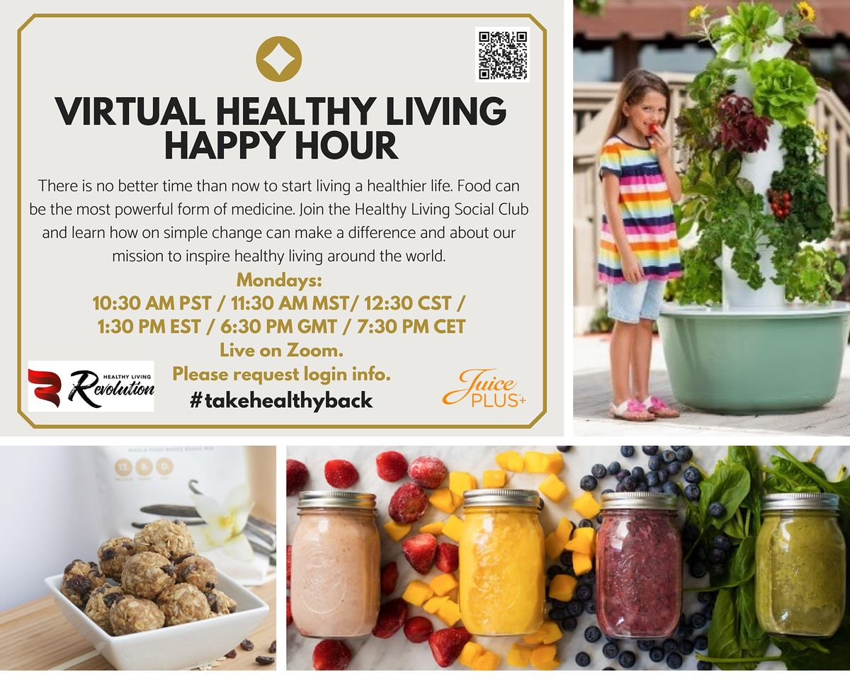 Virtual Healthy Living Happy Hour | Online Event | AllEvents.in