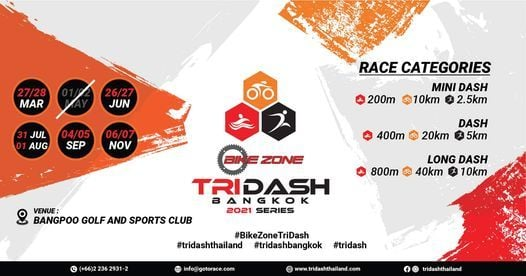 Bike Zone Tri Dash Bangkok 2021 Series, 26 June   Event in Chon Buri   AllEvents.in