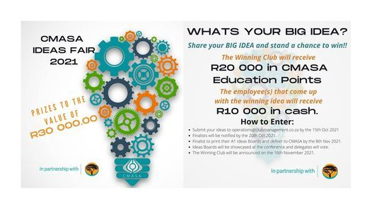 CMASA Ideas Fair 2021 in partnership with FNB, 15 November   Event in Johannesburg   AllEvents.in