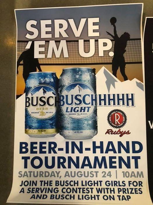 Busch Light Beer In Hand Tournament at Rubys, Bettendorf