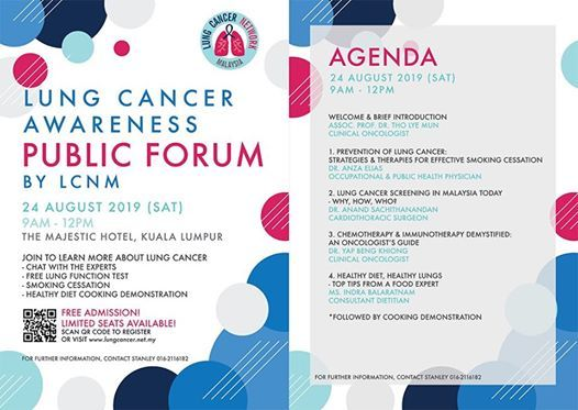 Lung Cancer Awareness Public Forum at The Majestic Hotel