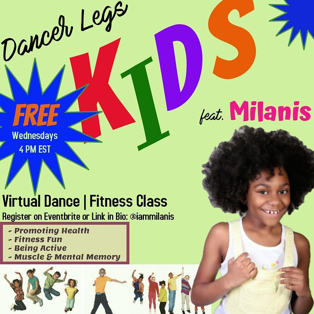 Kids Free Virtual Dance Fitness ft. Milanis | Online Event | AllEvents.in