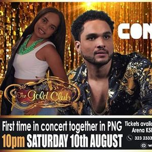 Conkarah & Rosie first time together in concert in PNG