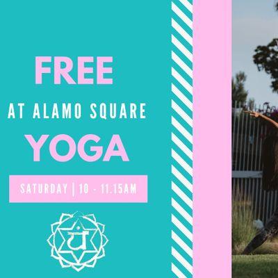Free Yoga at Alamo Square Park