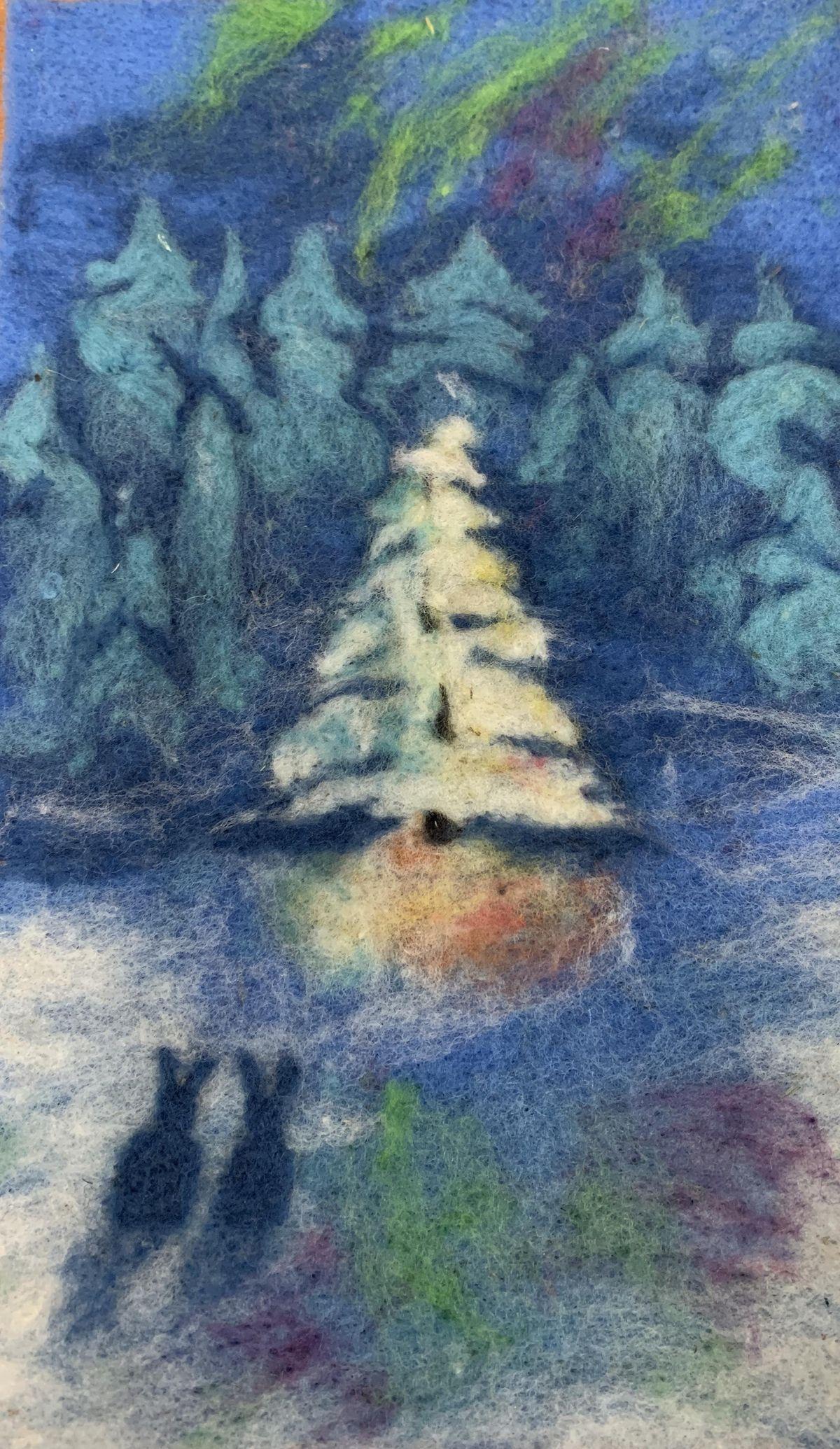 Christmas Tree Winter Scene Felting Workshop, Mariposa Woolen Mill