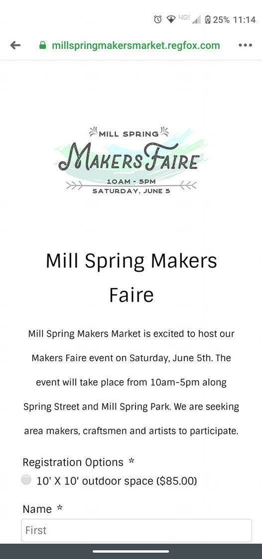 Mill Springs Makers Fair, 5 June | Event in Jonesborough | AllEvents.in