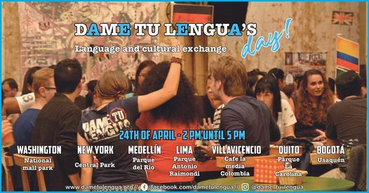 ¡Dame tu Lengua's day! Language and cultural exchange., 24 April | Event in Bogotá | AllEvents.in