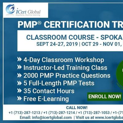 PMP Certification Training Course in Spokane WA USA  4-Day PMP Boot Camp