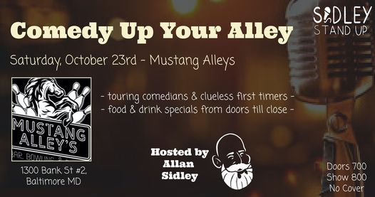 Mustang Alley's Open Mic Night [Stand-up Comedy], 23 October   Event in Baltimore   AllEvents.in