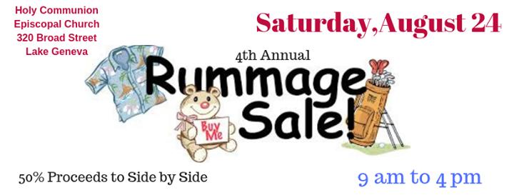 4th Annual Rummage Sale at Holy Communion Episcopal Church, Lake Geneva