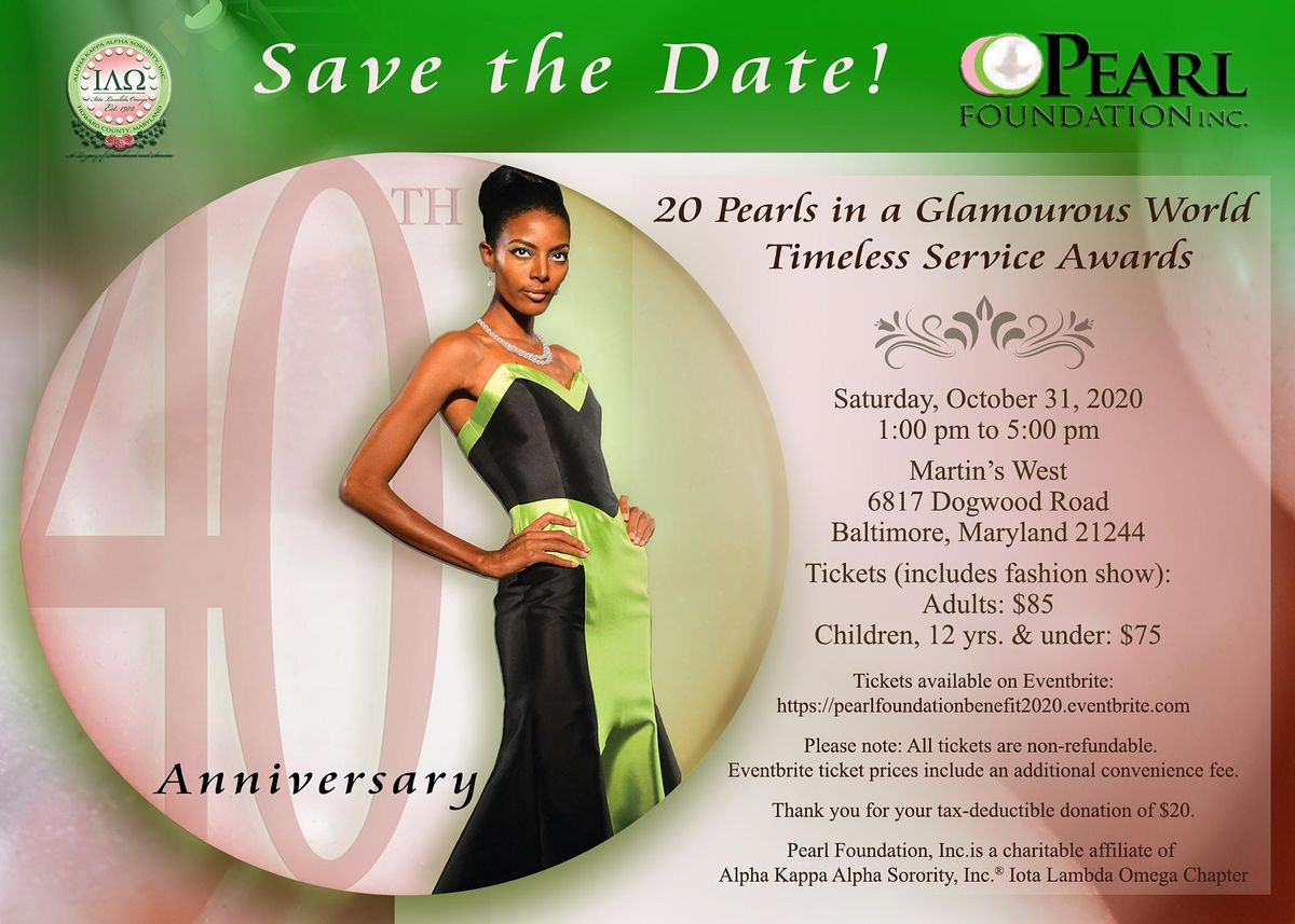 20 Pearls in a Glamourous World Scholarship Benefit, 1 May   Event in Baltimore   AllEvents.in