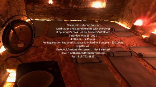 **Sold Out** Salt Room Meditation & Sound Healing with the Gong | Event in Sycamore | AllEvents.in