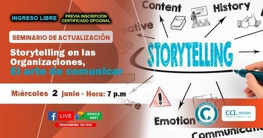 Seminario Gratuito: Storytelling en las Organizaciones, el arte de comunicar, 2 June | Event in San Martín de Porres