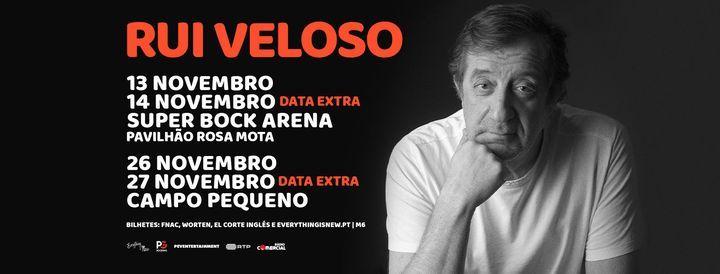 RUI VELOSO - DATA EXTRA // CAMPO PEQUENO, 27 November | Event in Lisbon | AllEvents.in