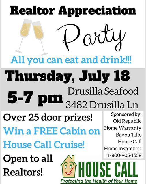 House Call Realtor Appreciation Party at Drusilla Seafood