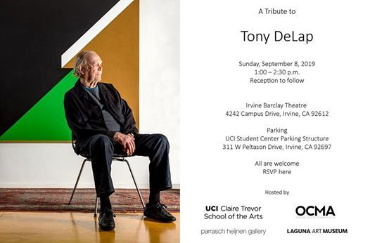 A Tribute to Tony DeLap at Irvine Barclay Theatre, Irvine
