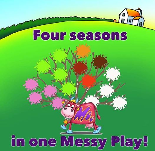 Four seasons in one Messy Play