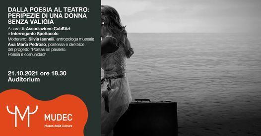 Dalla Poesia al Teatro: peripezie di una donna senza valigia, 21 October | Event in Milan | AllEvents.in