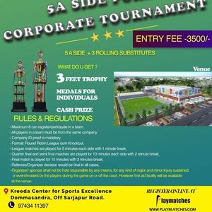 Playmatches presents 5A Side Pure Corporate Tournament
