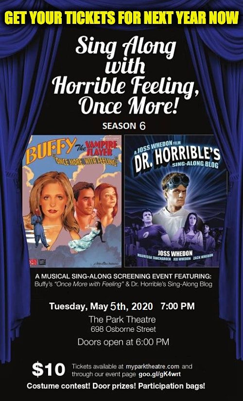 Sing Along With Horrible Feeling, Once More! Season 6, 18 May | Event in Winnipeg | AllEvents.in