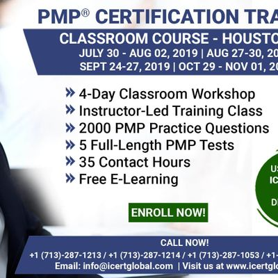 PMP Certification Training Course in Houston TX USA  4-Day PMP Boot Camp with PMI Membership Included.