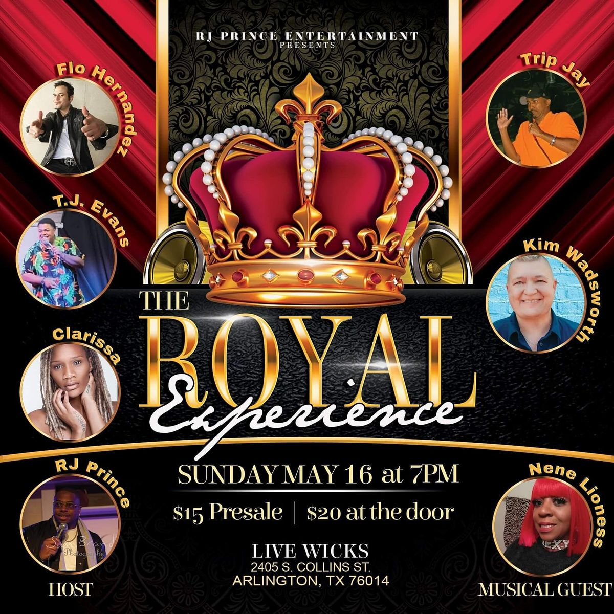 RJ Prince Entertainment presents: The Royal Experience Comedy show | Event in Arlington | AllEvents.in