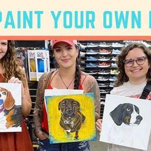 Paint Your Own Pet portrait class- PRIVATE EVENT
