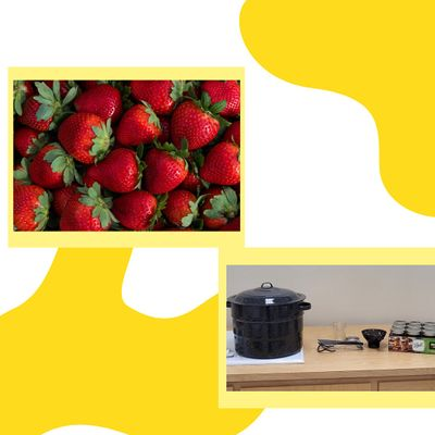 Preserving Food at Home Water Bath Canning - Strawberry Jam