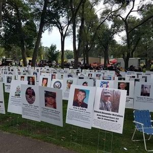Indiana Fallen Heros walk & Display