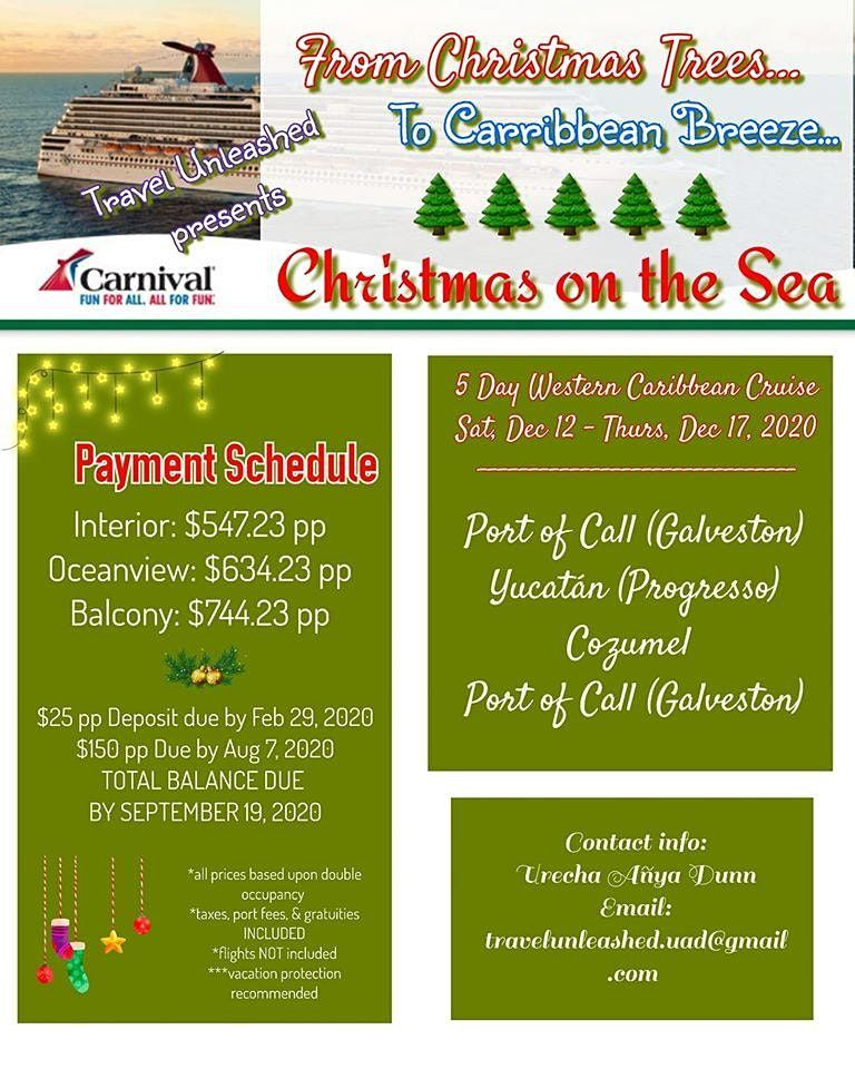 Galveston Christmas 2020 Christmas On The Sea at Carnival Cruises Port, Galveston
