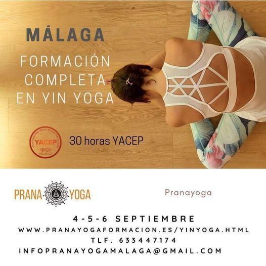 Mlaga Formacin presencial en Yin Yoga 30 hrs Yoga Alliance
