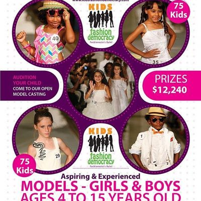 KIDS 9-15 Fashion Show Virtual Audition