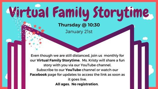 Virtual Family Storytime, 21 January | Event in Birmingham | AllEvents.in