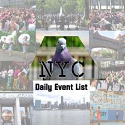 The NYC Daily Event List