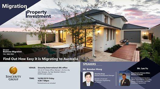 Australian Business Migration (132/ 188 Visa) Seminar at